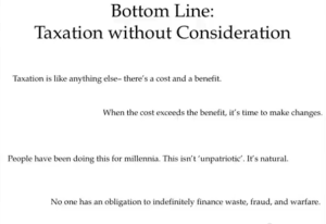 Taxation without consideration