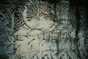 A33 Stone carving at Angkor Wat