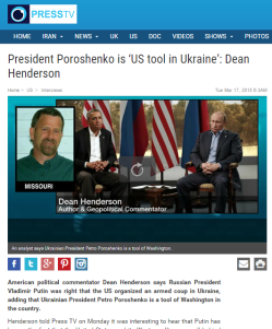 Press TV - Dean Henderson - Poroshanko is US tool